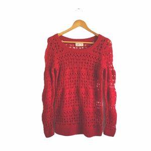 HOLLISTER    Crocheted Sweater